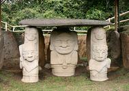 Präkolumbianische Steinskulpturen von San Agustin
