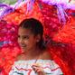 Kolumbien Reisen | Mädchen bei der Feria de las Flores in Medellín