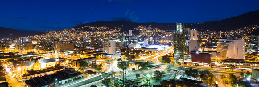 Kolumbien Wirtschaft | Medellin City Lights