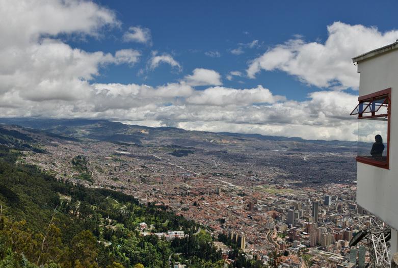 Kolumbien Reisen | Blick vom Monserrate auf Bogota