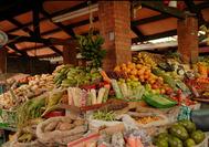 Kolumbien Reisen | Marktstand in Bogota