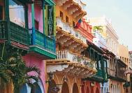 Kolumbien Reise | Fassaden der Kolonialgebäude, Cartagena de Indias