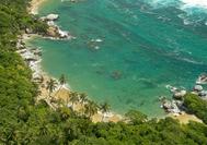 Bucht an der Küste des Tayrona Nationalparks