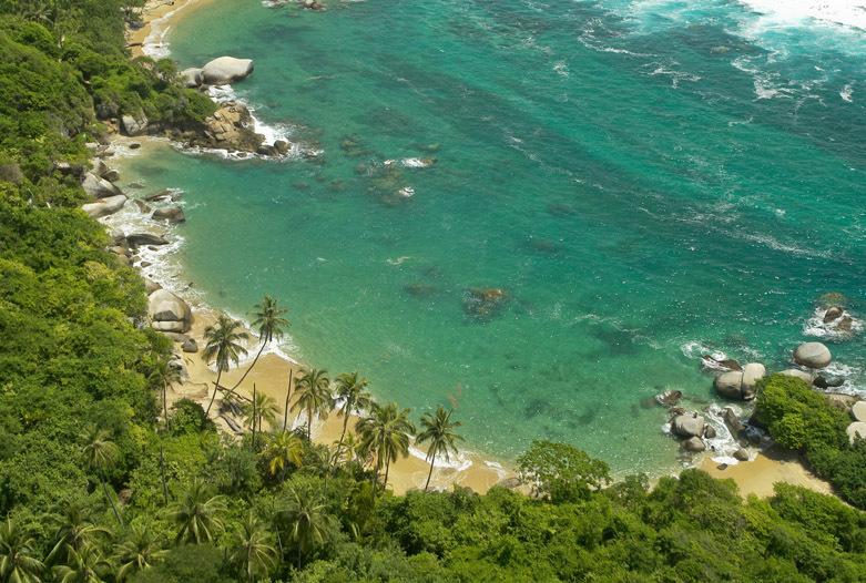 Kolumbien Reisen | Bucht an der Küste des Tayrona Nationalparks