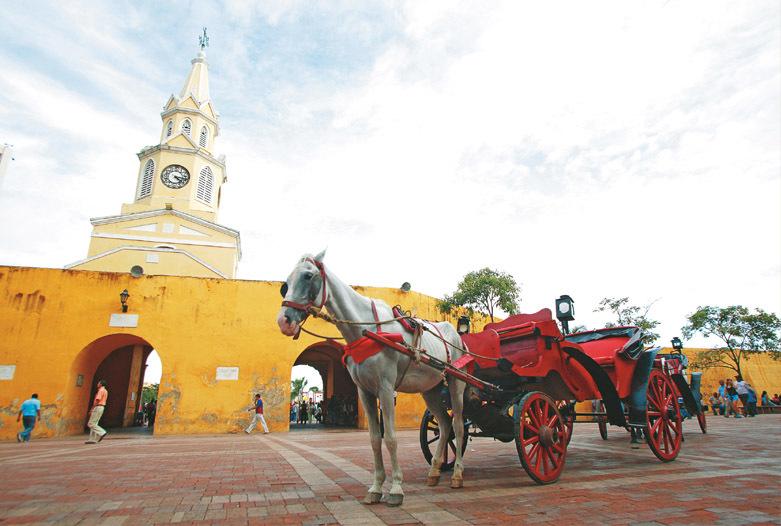 Kolumbien Reisen | Kutschfahrt in der Altstadt von Cartagena