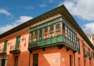 Kolonialgebäude in der Candelaria, Bogotá