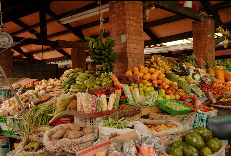 Kolumbien Reisen | Marktstand, Bogota