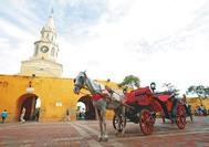 Kutschfahrt in der Altstadt von Cartagena