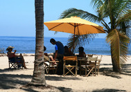 Am Strand vom Tayrona Nationalpark