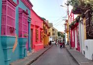 Strasse in der Altstadt von Cartagena