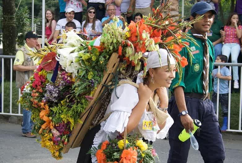 Kolumbien Reise | Silletera bei der Feria de las Flores, Medellín
